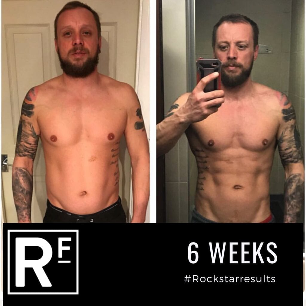 6 week body transformation london - Before and after