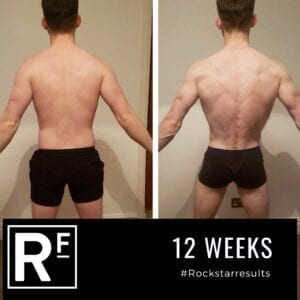 12 week body transformation london - Before and after - Simon T