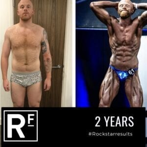 104 week body transformation london - Before and after - Comp Prep