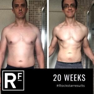 20 week body transformation london - Before and after-Carl