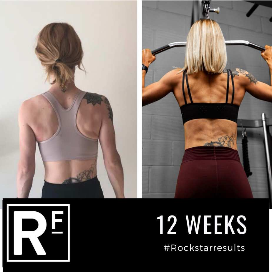 12 week body transformation london - Before and after - Lucy