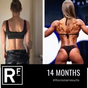 14 month body transformation london - Before and after - Female Comp prep