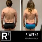 8 week body transformation london - Before and after-Danny