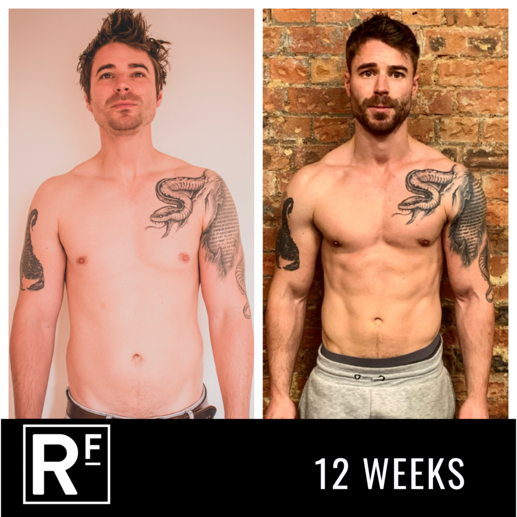 12 week body transformation - london- James Turner 4