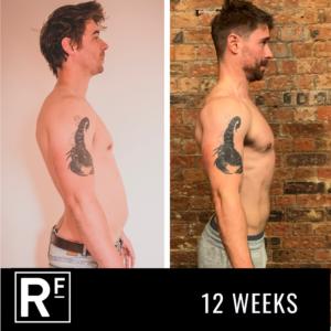12 week body transformation - london- James Turner