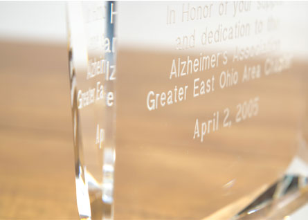 custom engraved crystal