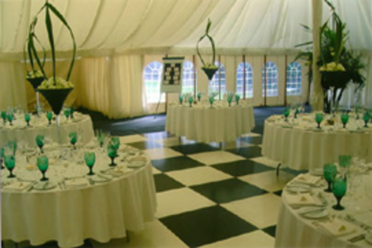 County Marquees East Anglia - Marquee Hire Essex-large-marquee-interior-turquoise-traditional-wedding-decoration