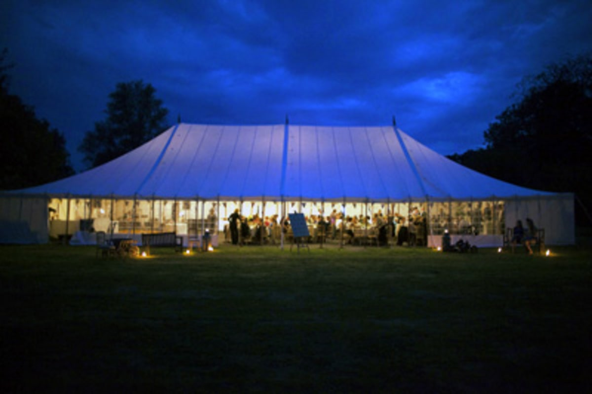 County Marquees East Anglia - Marquee Hire Essex-large-traditional-marquee-at-night