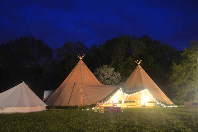 County Marquees East Anglia - Marquee Hire Essex -tipis-at-night