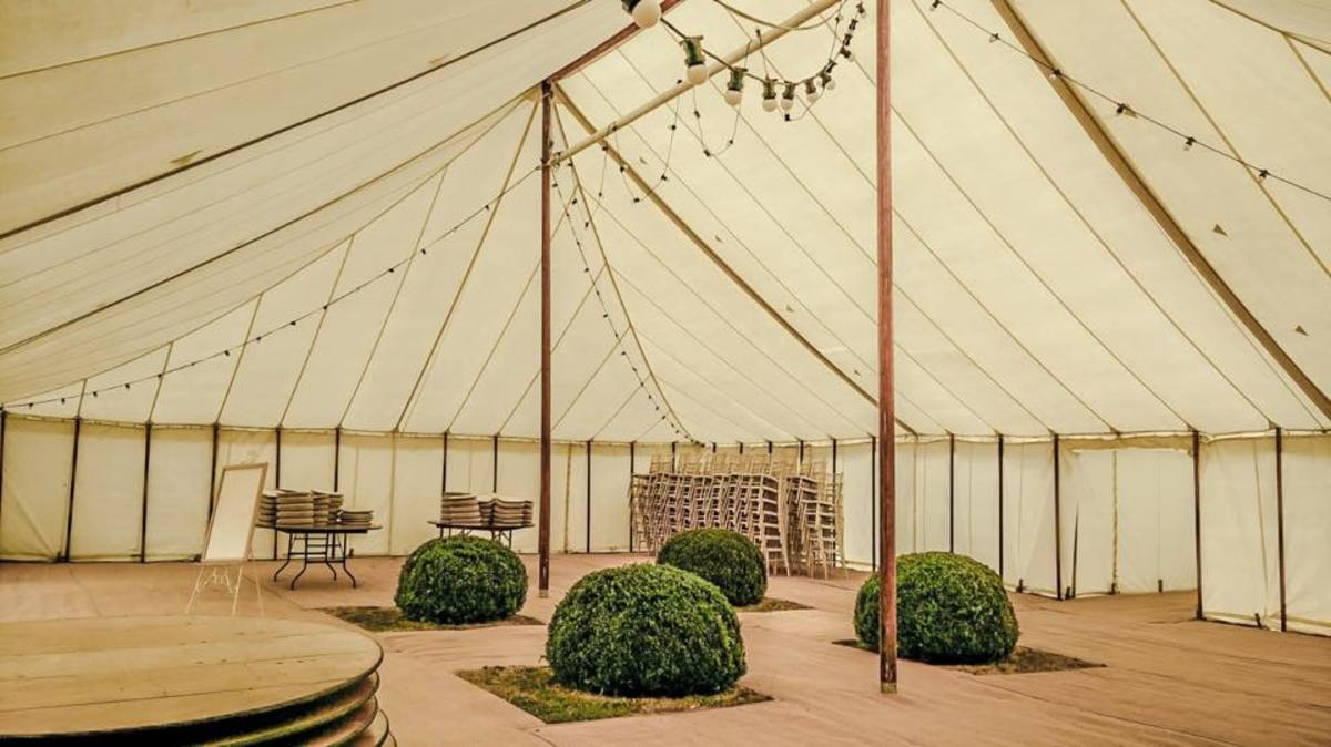 County Marquees East Anglia - Marquee Hire Essex-traditiaonl-marquee-rustic-look-hire