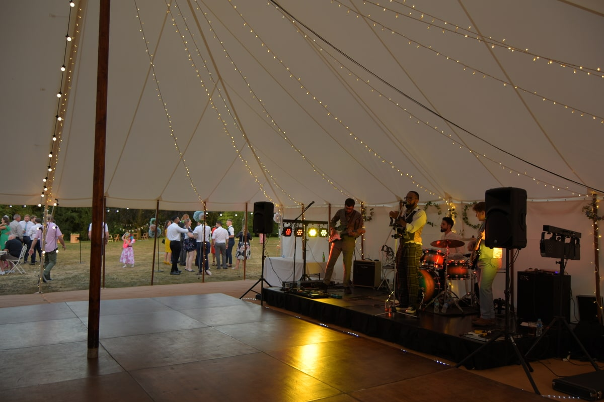 County Marquees East Anglia - Marquee Hire Essex-traditional-marquee-hire-band-dancefloor