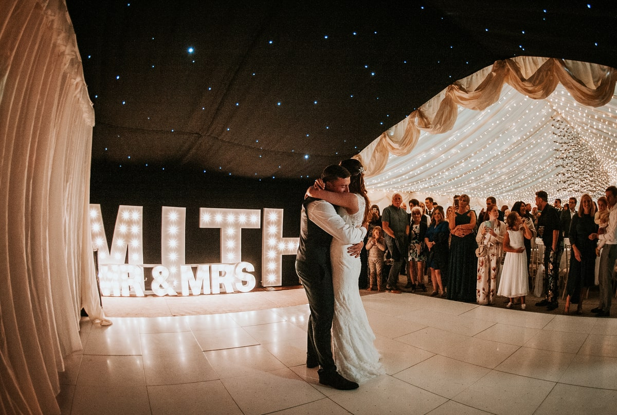 County Marquees East Anglia - Marquee Hire in Essex-clear-span-marquee-hire-first-dance-lights