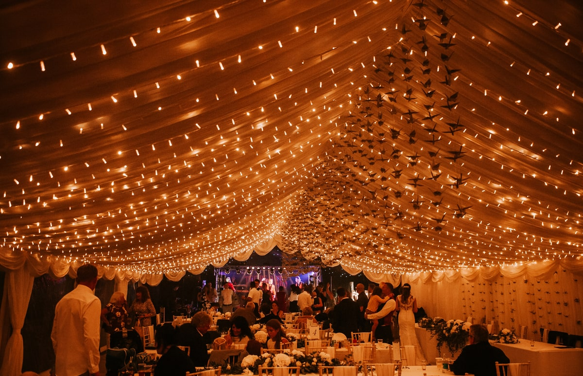 County Marquees East Anglia - Marquee Hire in Essex-clear-span-marquee-hire-interior-night