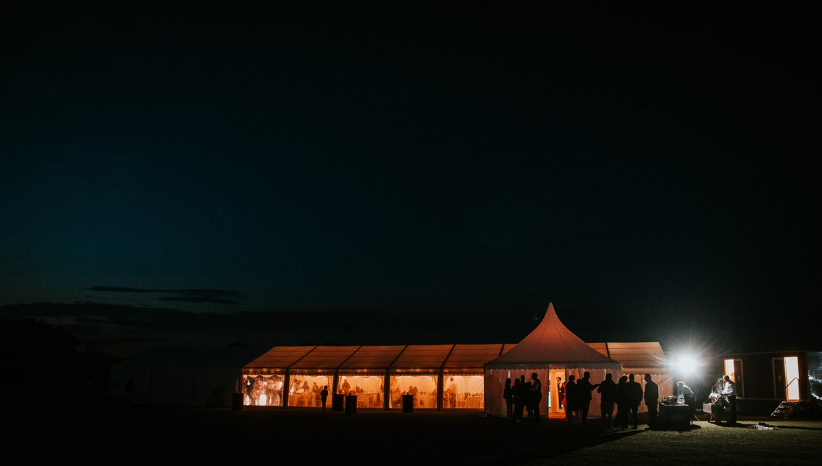 County Marquees East Anglia - Marquee Hire in Essex-clear-span-marquee-hire-night