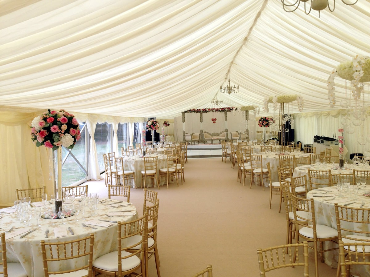 County Marquees East Anglia - Marquee Hire in Essex-clear-span-marquee-hire-round-table