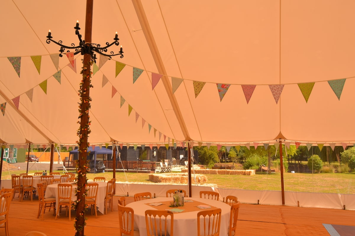 County Marquees East Anglia - Marquee Hire in Essex-sail-cloth-marquee-hire-bunting