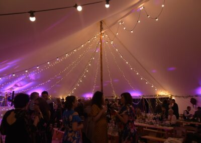 County Marquees East Anglia - Marquee Hire in Essex-sail-cloth-marquee-hire-evening