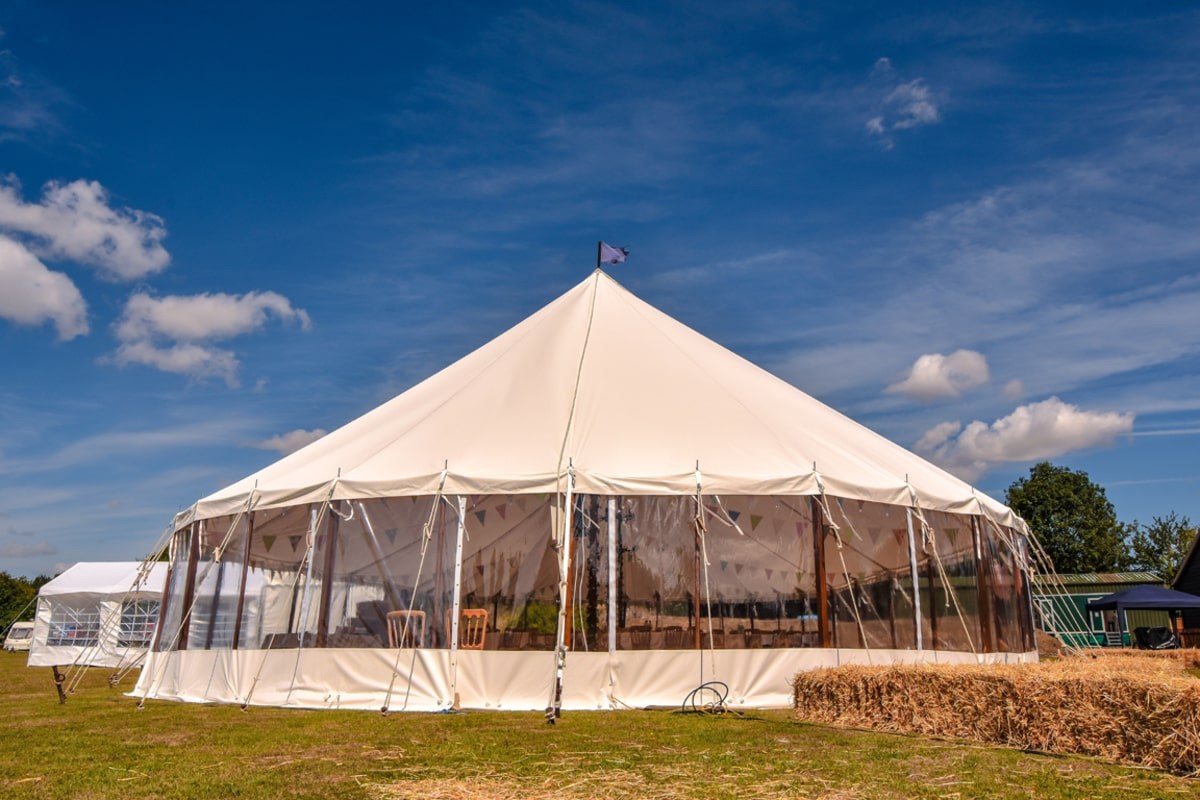 County Marquees East Anglia - Marquee Hire in Essex-sail-cloth-marquee-hire-hay-bales