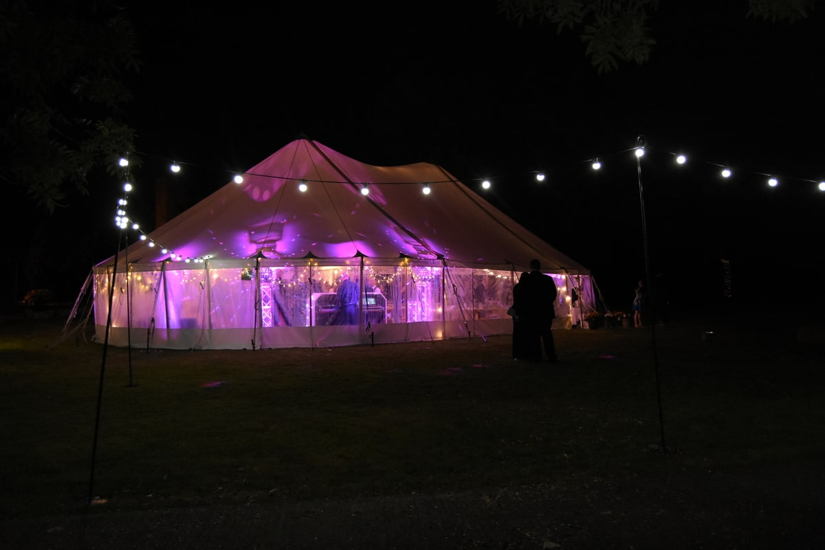 County Marquees East Anglia - Marquee Hire in Essex-sail-cloth-marquee-hire-night-lights-exterior