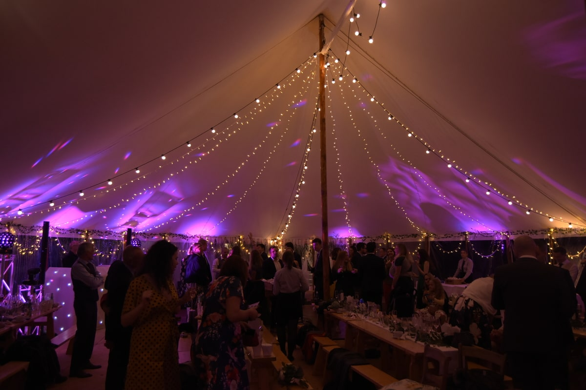 County Marquees East Anglia - Marquee Hire in Essex-sail-cloth-marquee-hire-night-lights