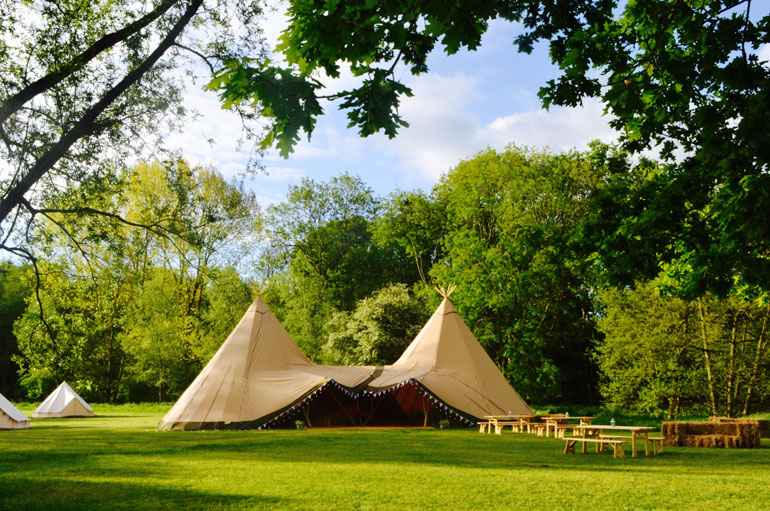 County Marquees East Anglia - Tipi Hire Essex - distant-view-of-tipi