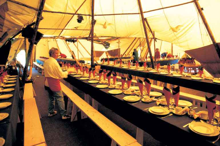 County Marquees East Anglia - Tipi Hire Essex - inside-of-tipi