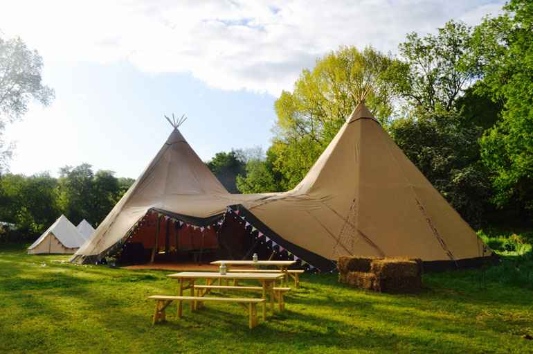 County Marquees East Anglia - Tipi Hire Essex - tipi-image-with-benches