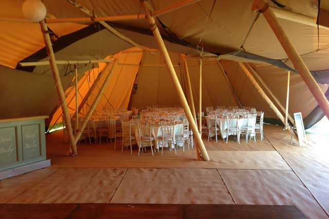 County Marquees East Anglia - Tipi Hire Essex - tipi-interior