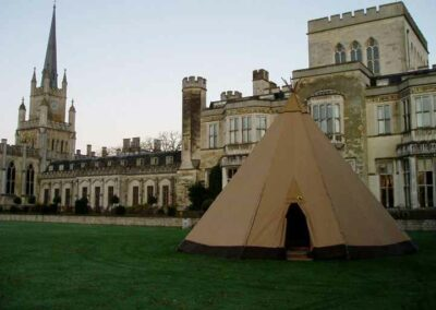 County Marquees East Anglia - Tipi Hire Essex - tipi-outside-castle-