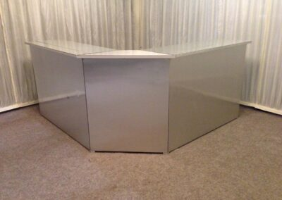 County Marquees East Anglia - Brushed-Steel-bar-front