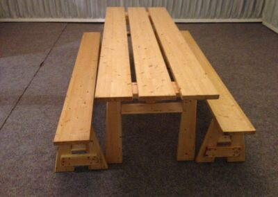 County Marquees East Anglia - Chunky-Rustic-table-and-benches