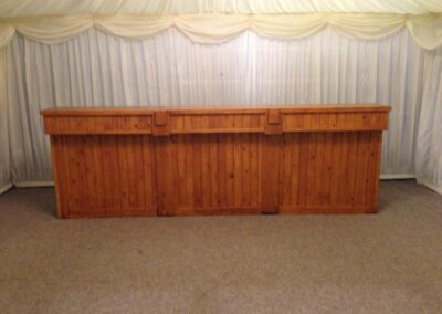 County Marquees East Anglia - Light-Oak-bar-front