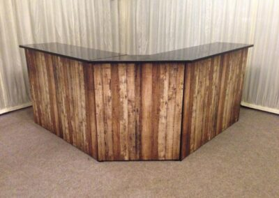 County Marquees East Anglia - Wood-wrap-bar-front