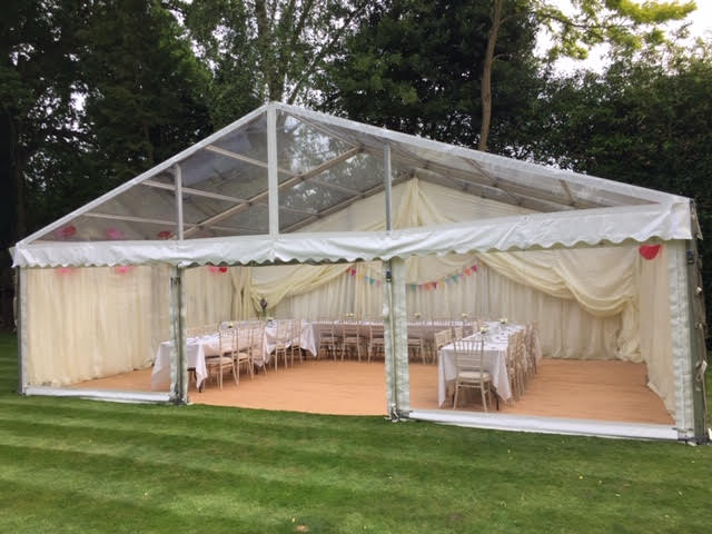 County Marquees East Anglia Clear Span Marquee Interior Transparent-min