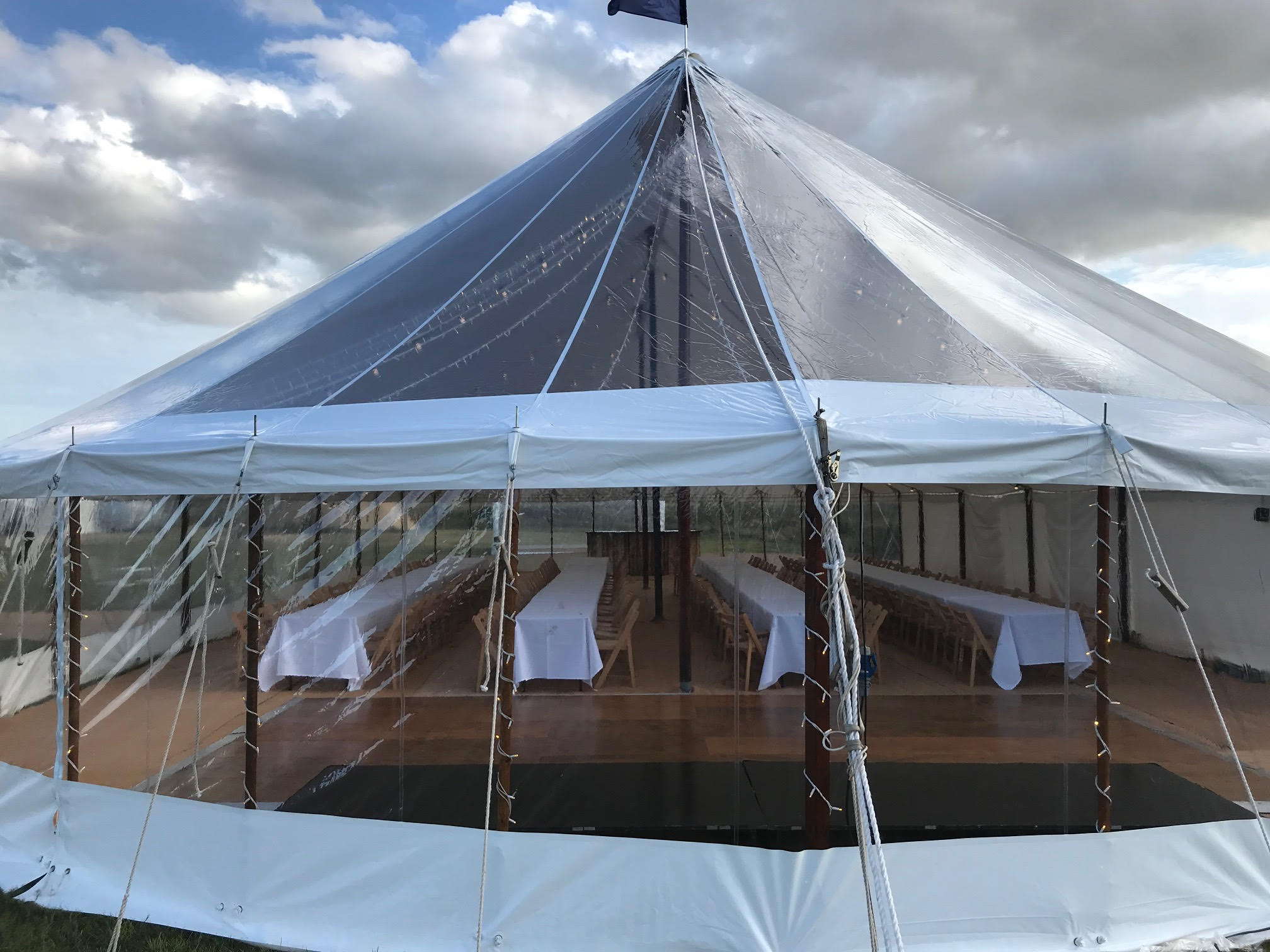 County Marquees East Anglia Sail Cloth Marquee Hire Exterior