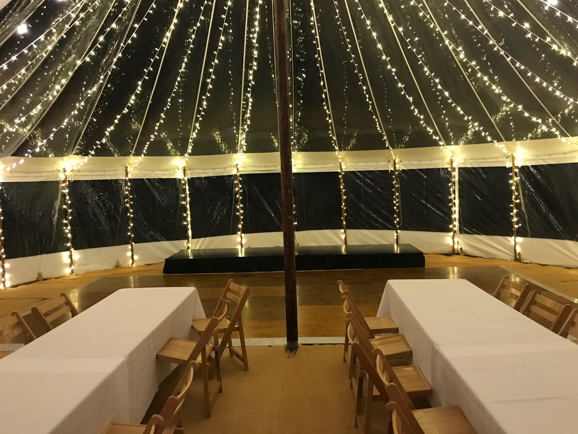 County Marquees East Anglia Sail Cloth Marquee Hire Interior
