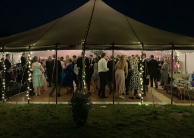 County Marquees East Anglia Traditional Marquee at Night -min