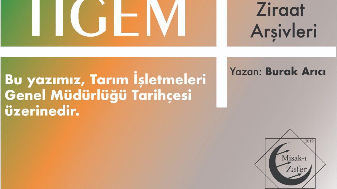 Tarım işletmeleri genel müdürlüğü (TİGEM)