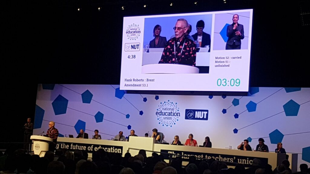 NUT conference after the decision of the NUT and ATL to affiliate