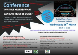 Flyer for the March 2022 Health and Safety Conference.