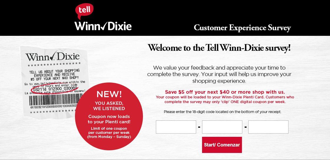 Winn Dixie Customer Experience Survey