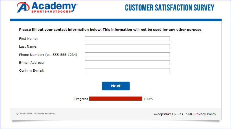 academy sweepstakes entry