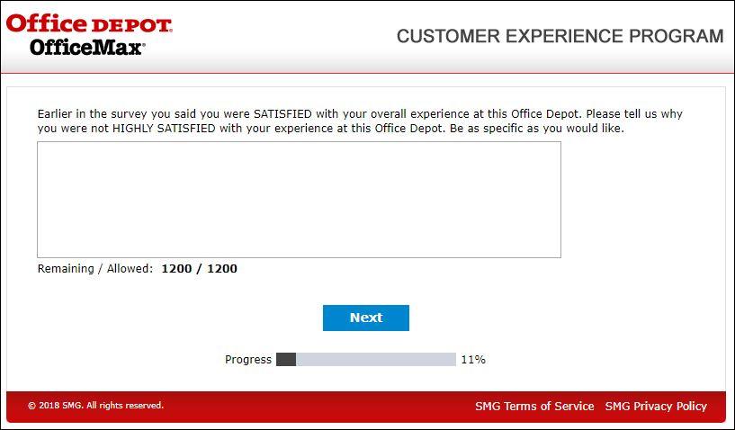 Office Depot Customer Experience Survey