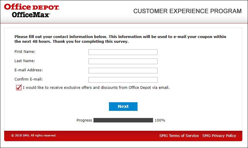 Office Depot Guest Experience Survey
