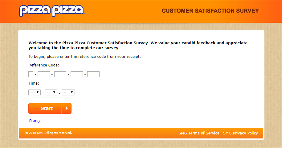 pizza pizza survey step
