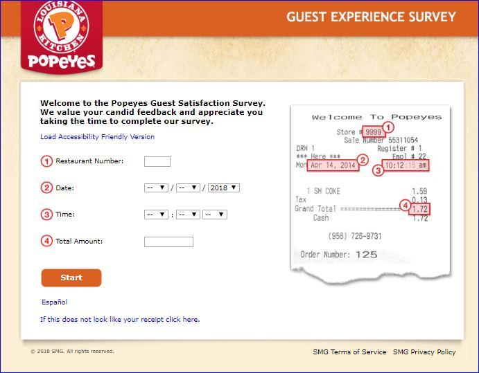 popeyes survey step 2