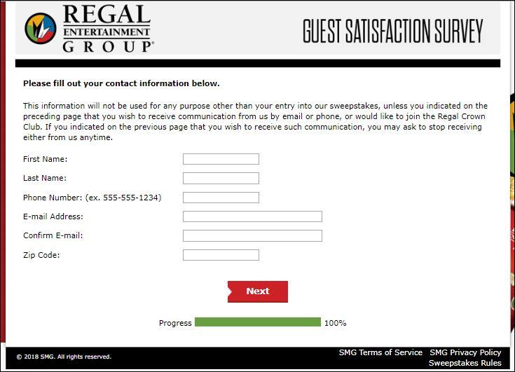 regal survey 5