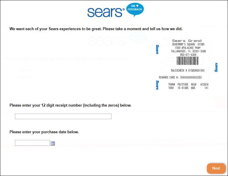 sears survey 2
