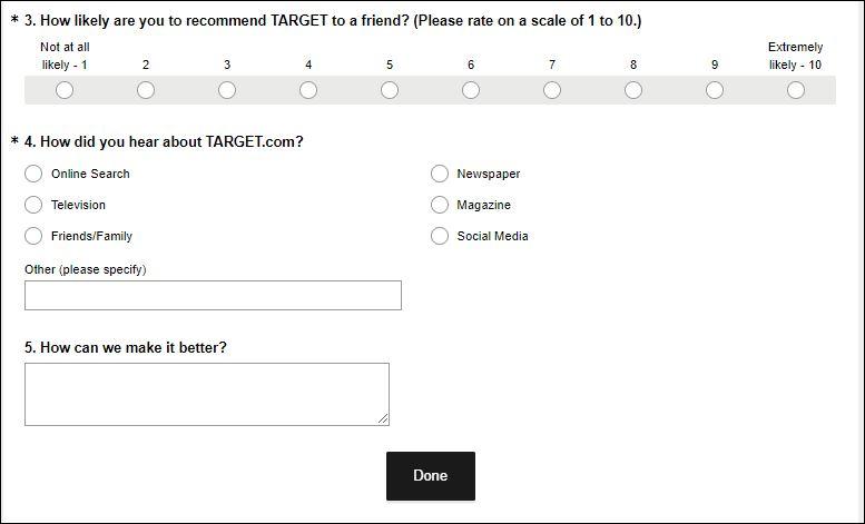 target survey 2