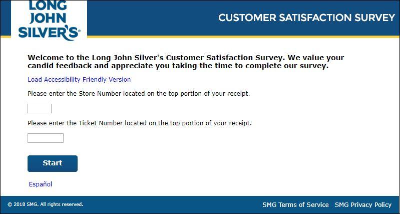 long john silvers survey